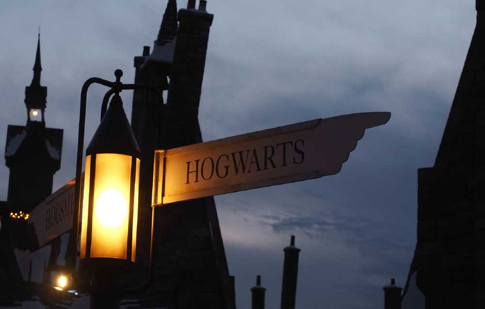 Hogwarts Sign Post